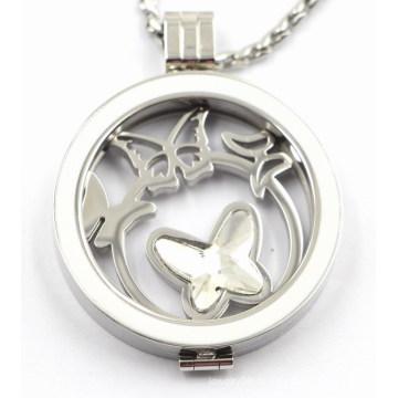 Выполненная на заказ Нержавеющая сталь медальон кулон с эмалью Топ