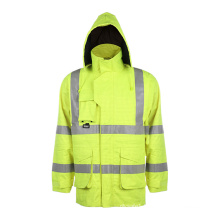 High Visibility Safety Traffic Wateproof Jacket with En ISO