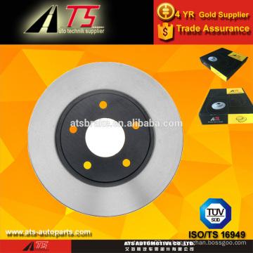 Coche Rotor de freno de disco delantero, piezas de automóviles del sistema de frenos, piezas de automóviles