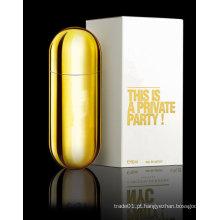 O perfume do desenhador da marca para o homem na garrafa de vidro aceita personaliza