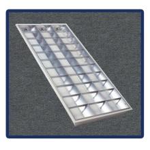 Support de tube, 1220 * 600 / T5 / 4X40W Encastré Grille Lampe