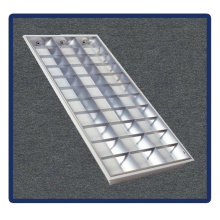 Suporte do tubo, 1220 * 600 / T5 / 4X40W Recessed Montado Grille Lamp