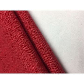 12s Linen Rayon With Slub Solid Fabric