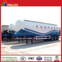 Semi-remorque verticale de pétrolier de ciment en vrac de 42m3