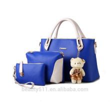 Marca Mãe pacote Sacos Messenger Bag genuíno PU sacos de couro Crossbody handBag 3pc set HB38