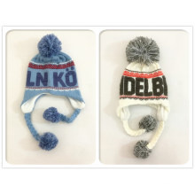 Baby Kids Children Winter Warm Knitted Outdoor Earflap Ear Warmer Ski Aviator Hat (HW640)