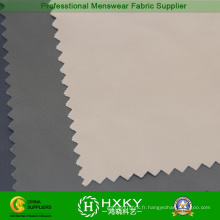Tissu de mémoire de polyester 75D avec le sergé pour le manteau de duvet