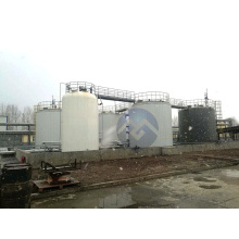 Large insulated stainless steel storage tank
