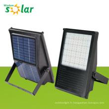 Aluminium solaire LED Flood Light intégré panneau solaire JR-PB-001
