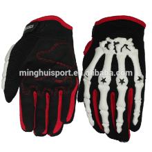 Mehrfarbiger Kevlar-Futter-Knöchel-Schutz-Motorrad- / Motorrad-Handschuh