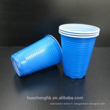 Tasse en plastique jetable double couche 6oz pour la fête