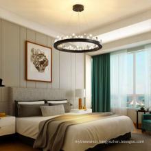 Home Decor Hanging Light Circle Rings Crystal Chandelier Pendant Lights For Living Room Bedroom Dining Room