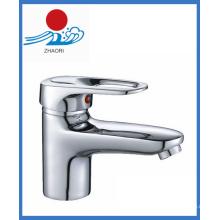 Solo manija lavabo mezclador de agua grifo (zr21502)