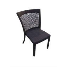Outdoor Garden Dining Chair Coated with Rattan
