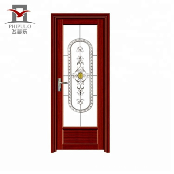 aluminum bathroom door with windows