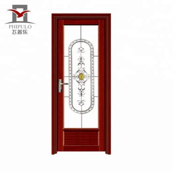 алюминиевая дверь ванной с окнами