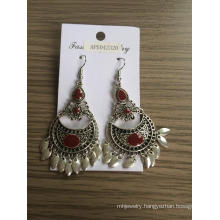Retro Tassel Earrings with Silver Plated Metal