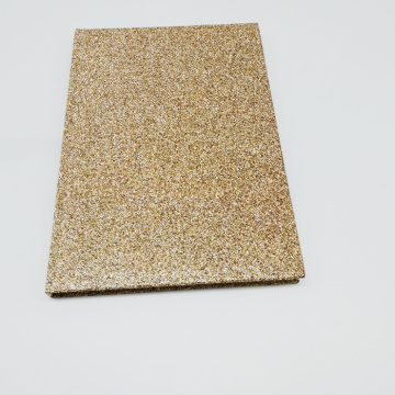 Custom Newest Fancy Hardcover Notebook With Glitter Paper