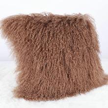 couverture de coussin de peau de mouton de beauté