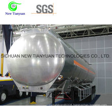 20m3 Volume LNG Cryogenic Tank Semi Trailer