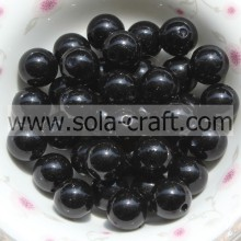 Grade A Acrylic 6MM Imitation Pearl Beads Lovely Round Handmade Black Beads