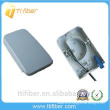 Impermeável 2 portas ftth caixa pequena com adaptador SC para FTTH, FTTO e FTTD