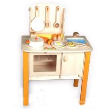 Retro fingir brinquedo de madeira crianças de cozinha