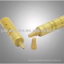 colored cream packaging nozzle plastic tube