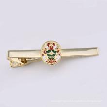 Clip de cravate avec plaquette plaquée or en émail (GZHY-TK-001)