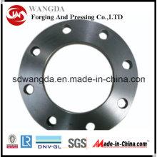 Bride forgée de tuyau d'acier au carbone de plat de DIN2543 Pn16