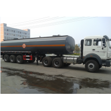 Reliable for Chemcial Tanker Truck Bieben 6x4 tractor truck with hydrochloric acid tanker supply to Iceland Factories
