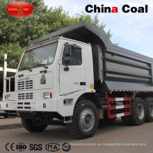 6X4 10 Neumáticos Camión con volquete para minería de descarga a la izquierda