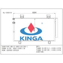 Kühlsystem-Selbstkondensator-Teile für Toyota Campy 92-96 Vcv 10 at