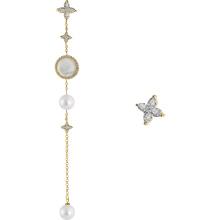 Trending Silver 925 fashion pearl Women tassel pearl earrings