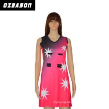 Ozeason Durable Digital Print Latest Design Netball Dress