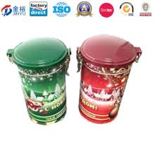 Air Tight Round Tea Tin Box with Plastics Lid