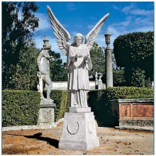 White Marble Angel Statue For Garden Decoration