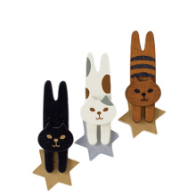 FQ marca animal de madera al por mayor japón recuerdo gato imán nevera
