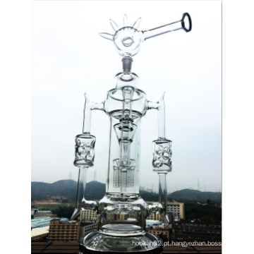 2016 Mais recente Helix Flare Waterpipe Tubo de fumar destacável Pipe de fumar Swiss Perc Tubo de água Inline Showerhead Bent Neck Tubo de água de vidro