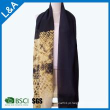 Cachecol de lenço de tinta e lavagem de tinta chinesa cachecol personalizado de seda