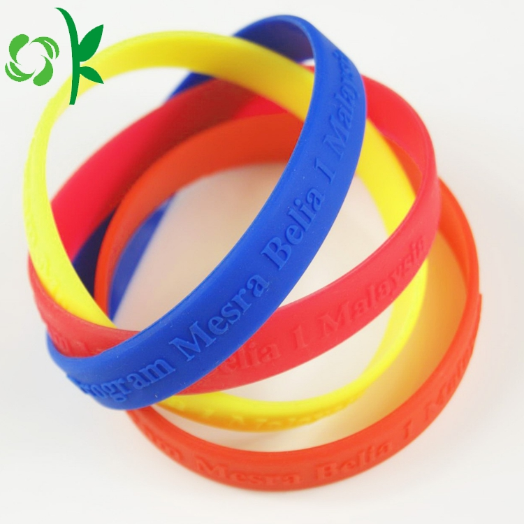 Letter Embossed Silicone Bracelet