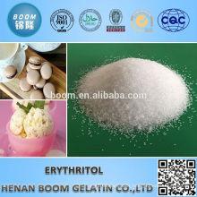 Organic white crystal erythritol sweeteners