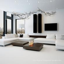 Decoração de arte luxuosa sala de estar em casa lustre led
