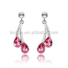 Mulheres favoritas brincos de lustre strass rosa para festa à noite