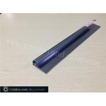 Alumínio Raio Tile Trim em Anodizado Bright Sapphire-Blued Cor