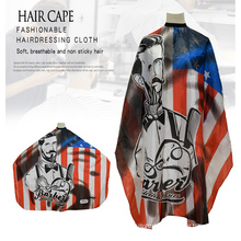 Wholesale Barber Capes Plastic Haircut Gown Waterproof Apron Cutting Cape for Hairdressers with Elastic Neck