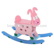 Kids Wooden Animal Rabbit Rocking Horse Toys