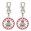 2 Pet Dog ID Metal Tags