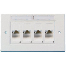 ftth ethernet 3m amp rj45 4 ports faceplate, 4 port rj45 connector faceplate plastic