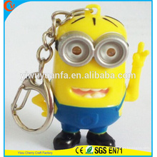 High Quality Promotional Cute Assorted Sound Ativado LED Animal Keychain